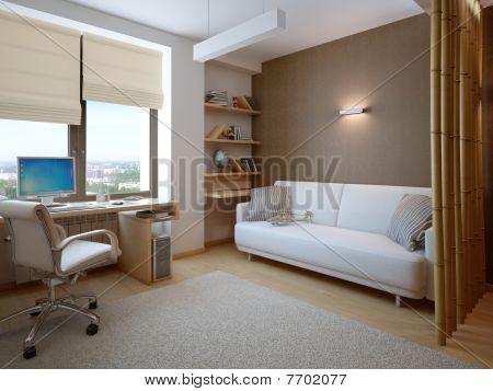 3d interior composition