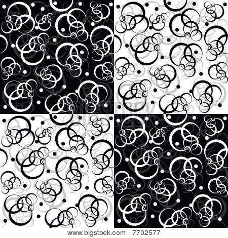 Black And White Pattern With Circles