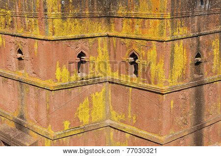 Unique monolithic rock-hewn Church of St. George (Bete Giyorgis) UNESCO World heritage Lalibela Ethi