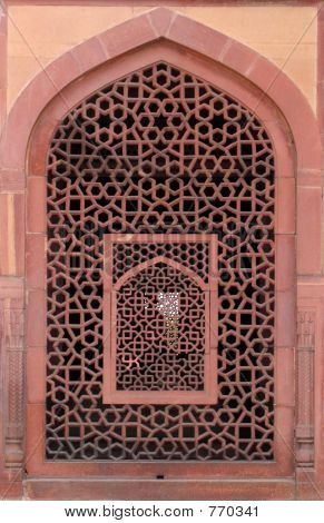 Carved window