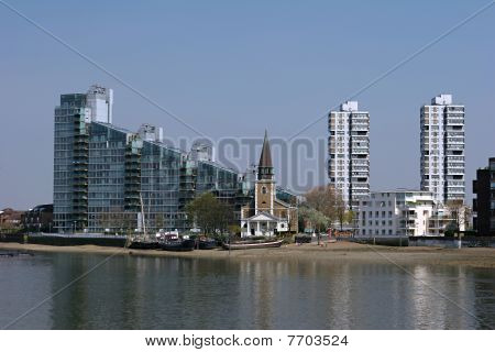 Church Along The Thames