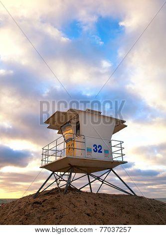 San Diego California USA beach lifeguard house