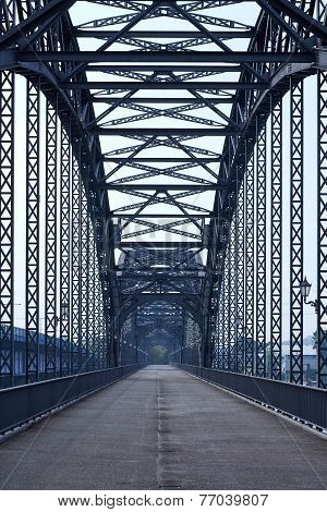 Steel Bridge In Hamburg
