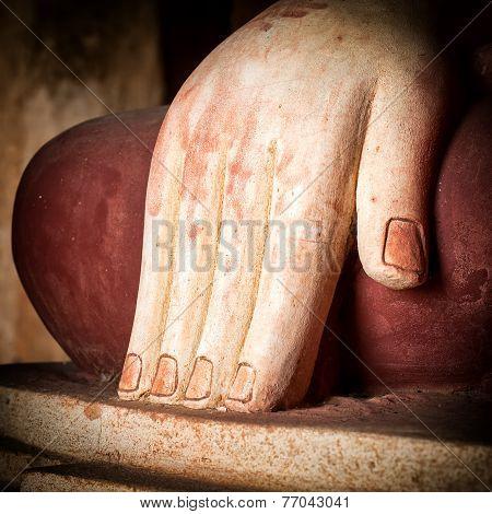 Buddhas Hand. Bagan, Myanmar (burma)