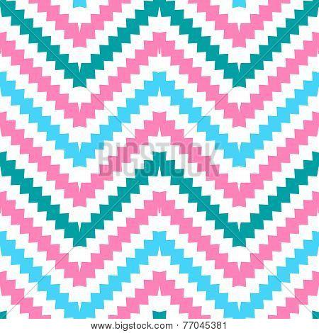 Cute tribal zig zag seamless pattern. Vector illustration