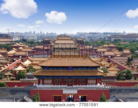 mperial Palace in Beijing, China