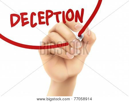 Deception Word Written By Hand