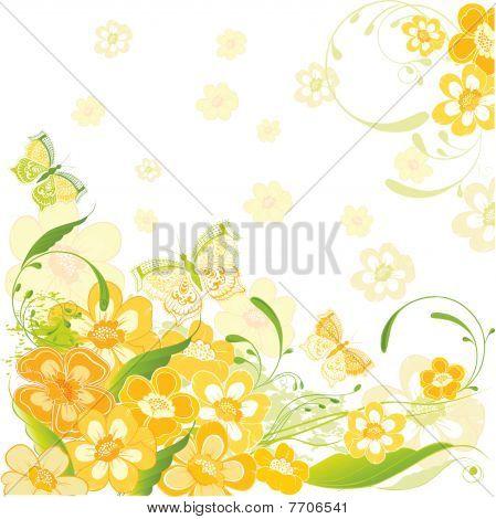 flowers summer card