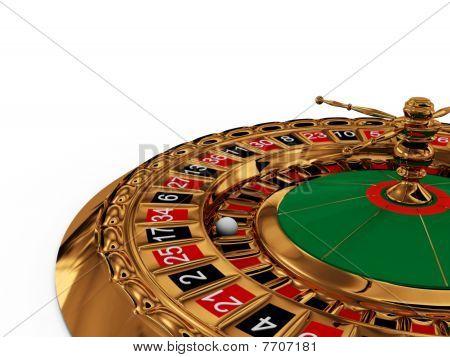 Casino Roulette Wheel On White Background