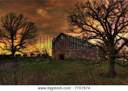 Old Dairy Barn in Spring