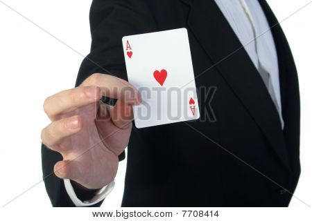 Magician And Cards