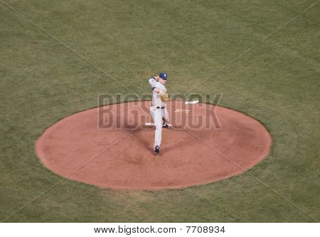 Padres Pitcher Fires A Strike