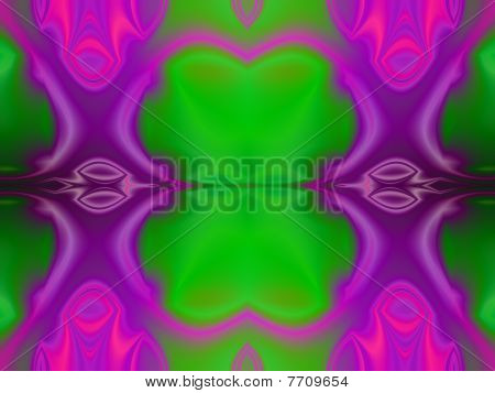 Abstract geometric forms with color gradient effect and textures. poster