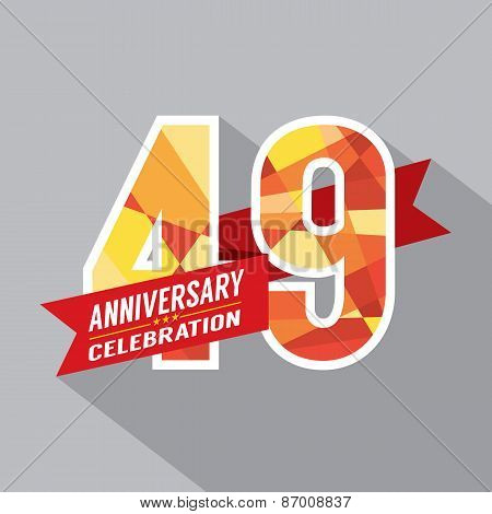 49th Years Anniversary Celebration Design Vector. EPS 10 poster
