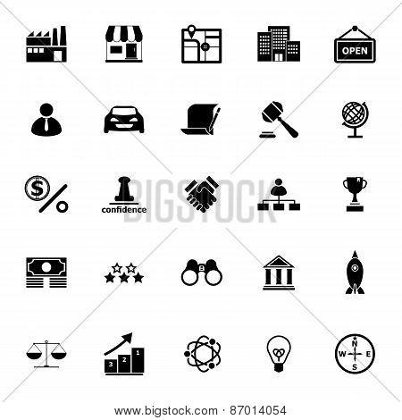Franchise Icons On White Background