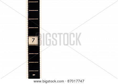 Number Seven Countdown Movie Filmstrip Vertical And Copyspace