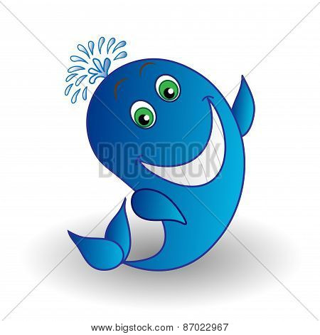 Vector Whale Smiling