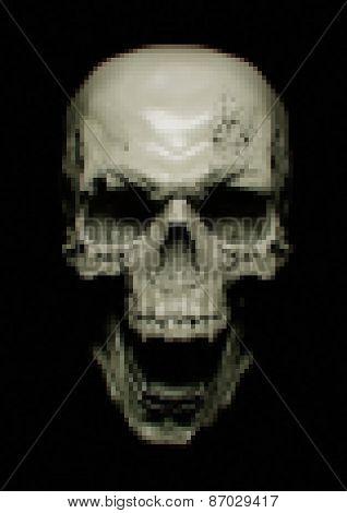 Dark Scream Scary Skull, Pixelization