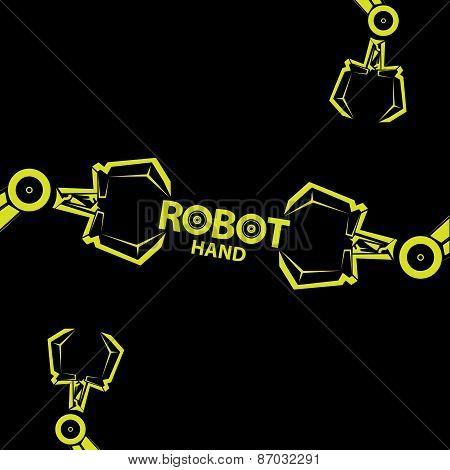 vector robotic arm symbol. robot hand