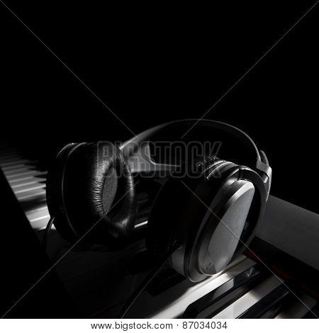Piano Keyboard With Headphones