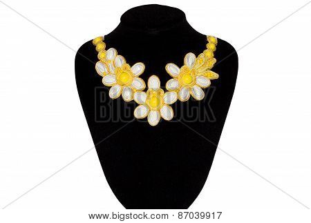 Necklace With Yellow Stones