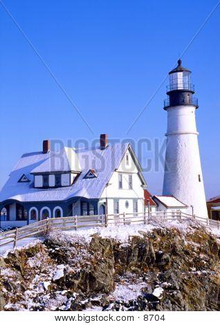 Snowy Lighthouse