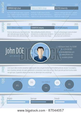 Blue White Resume Design