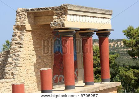 Fragment Of Knossos Palace