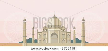 The Taj Mahal Flat Image