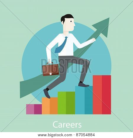 Career concept in flat design style
