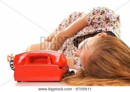 Waiting for call (horizontal shot)