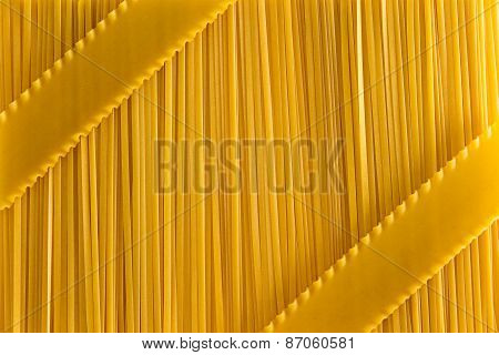 Dried Fettuccine Pasta And Lasagne Background