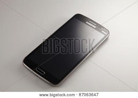 KUALA LUMPUR, MALAYSIA - April 2nd 2015. Close up of the Samsung mobile smart phone modal Galaxy grand 2