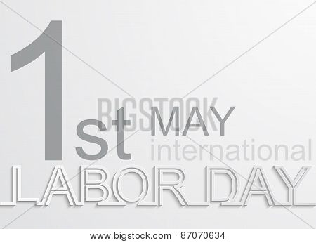 Vector modern 1 may international labour day background poster