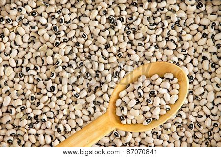 Full Frame Background Of Black-eyed Beans