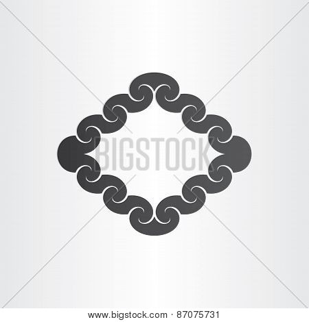 Abstract Wavey Frame Background