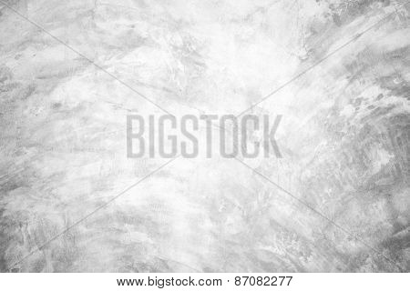 Polished bare concrete wall texture background Soft tone White color poster