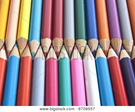 Colouring Pencils Lined Up