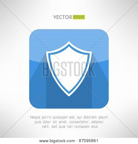 Shield icon made in modern clean and simple flat design. Security and protecion concept sign with lo