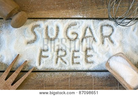 A Sugar  Free Word With Background