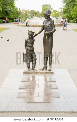 The Monument To The First Teacher With Classics, Volgograd