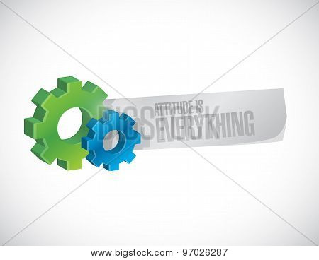 attitude is everything industrial sign concept illustration design icon poster