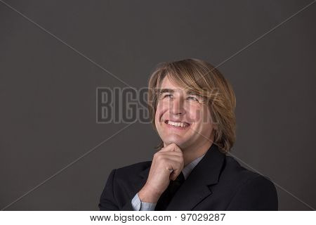 Smiling middle-aged businessman