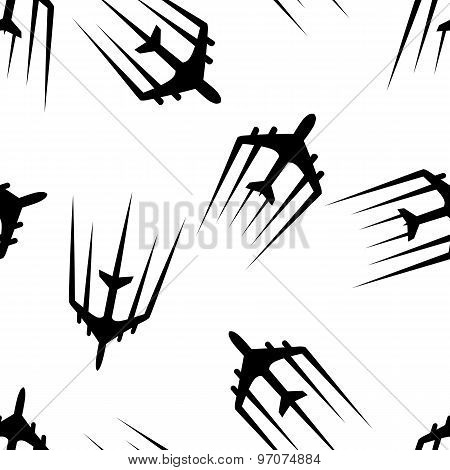 Flying airplane, Airliner jet, seamless wallpaper