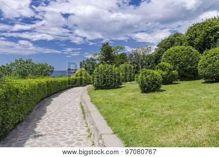 Livadia Palace park. Yalta, Crimea, Russia.