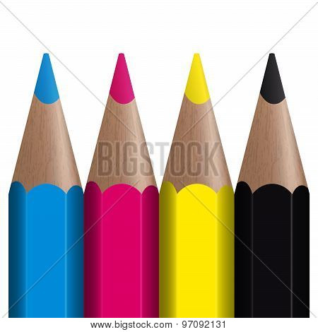 Colored Pencils Cmyk