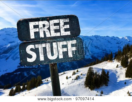 Free Stuff sign with sky background