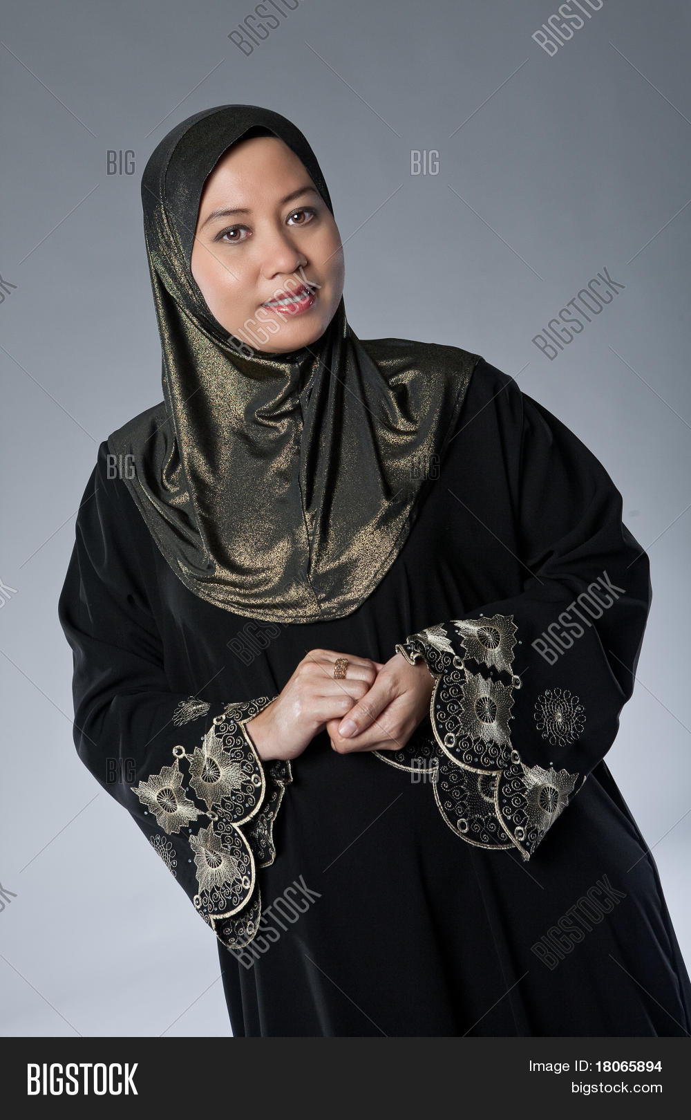 beautiful mature muslim malay woman image & photo | bigstock