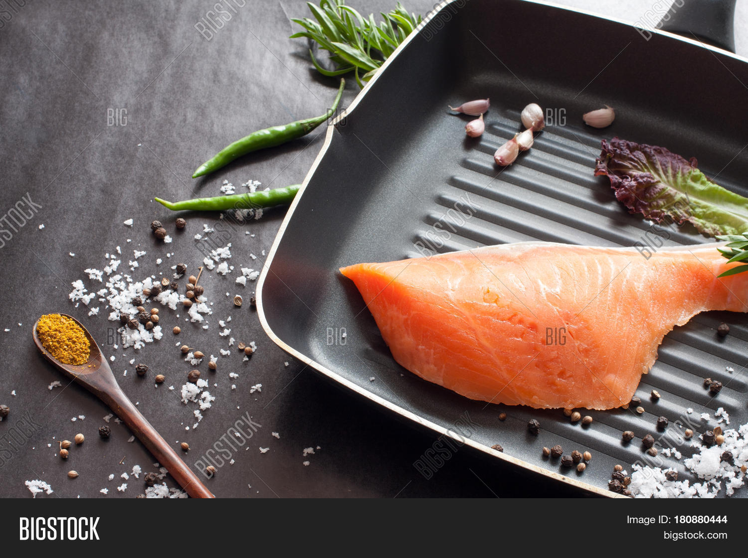 How to cook salmon fillet on grill pan