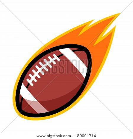 American football leather comet fire tail flying